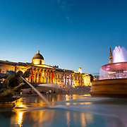 National Gallery, London at night