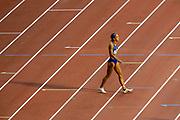 Katarina Johnson-Thompson (Great Britain), Women's Long Jump, during the IAAF Diamond League event at the King Baudouin Stadium, Brussels, Belgium on 6 September 2019.
