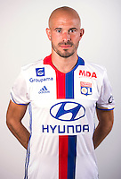 Christophe Jallet during the photocall of Lyon for new season of Ligue 1 on September 22nd 2016 in Lyon<br /> Photo : OL / Icon Sport