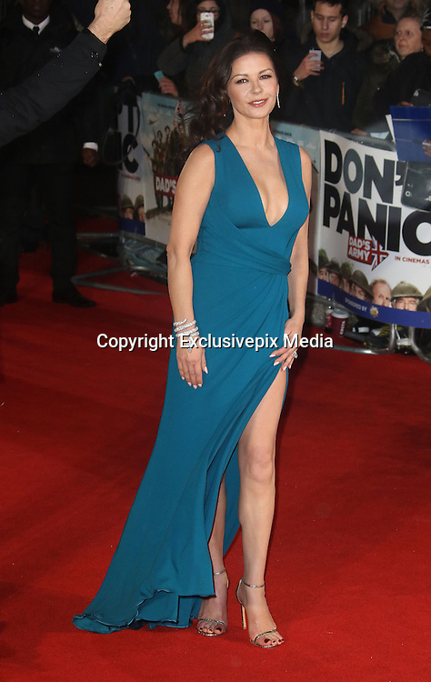 January 26, 2016 - Catherine Zeta-Jones attending 'Dad's Army' World Premiere, Odeon Leicester Square in London, UK.<br /> ©Exclusivepix Media
