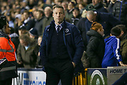 Millwall Manager Neil Harris during the The FA Cup fourth round match between Millwall and Everton at The Den, London, England on 26 January 2019.