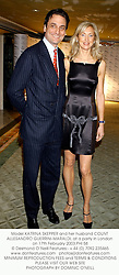 Model KATRINA SKEPPER and her husband COUNT ALLESANDRO GUERRINI-MARALDI, at a party in London on 17th February 2003.	PHI 58