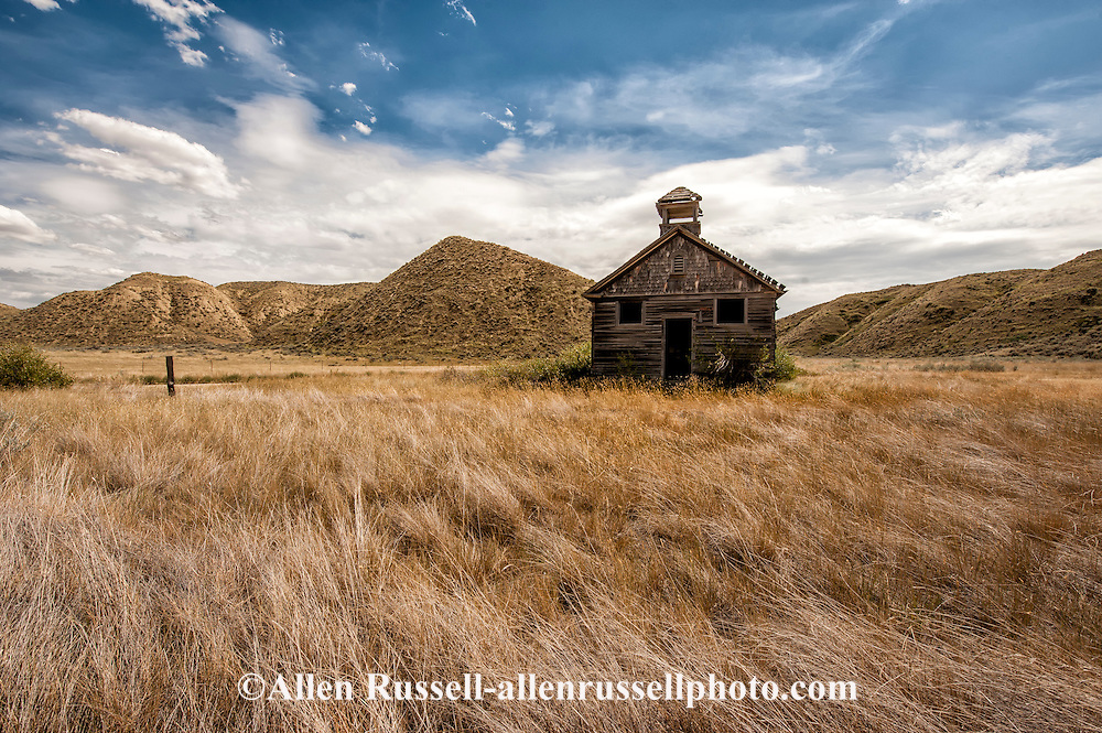 Collins School House, early 1900 schoolhouse, West of Loma, Montana, near Marias River where it joins Missouri River