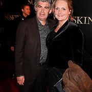 NLD/Amsterdam/20120115 - Premiere Suskind, Rob Oudkerk en partner Marieke Hallie