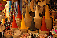 Spices, Souq, Medina, Old Town, Chefchaouen, Rif Mountains, Morocco