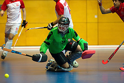 LEIZPIG - WC HOCKEY INDOOR 2015<br /> SUI v POL (7th / 8th Place)<br /> KLOTER Yanik shoot on goal<br /> FFU PRESS AGENCY COPYRIGHT FRANK UIJLENBROEK