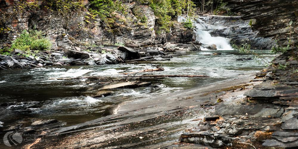 Glacier National Park; headwaters to McDonald Lake; mountain stream