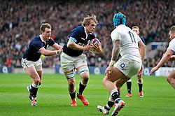 Jonny Gray of Scotland in possession - Photo mandatory by-line: Patrick Khachfe/JMP - Mobile: 07966 386802 14/03/2015 - SPORT - RUGBY UNION - London - Twickenham Stadium - England v Scotland - Six Nations Championship