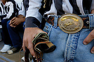 VERENIGDE STATEN-ANGOLA-Louisiana State Prison Rodeo. Alex Hennis, winnaar All around cowboy. COPYRIGHT GERRIT DE HEUS, UNITED STATES-ANGOLA- Angola Prison Rodeo. Photo: Gerrit de Heus