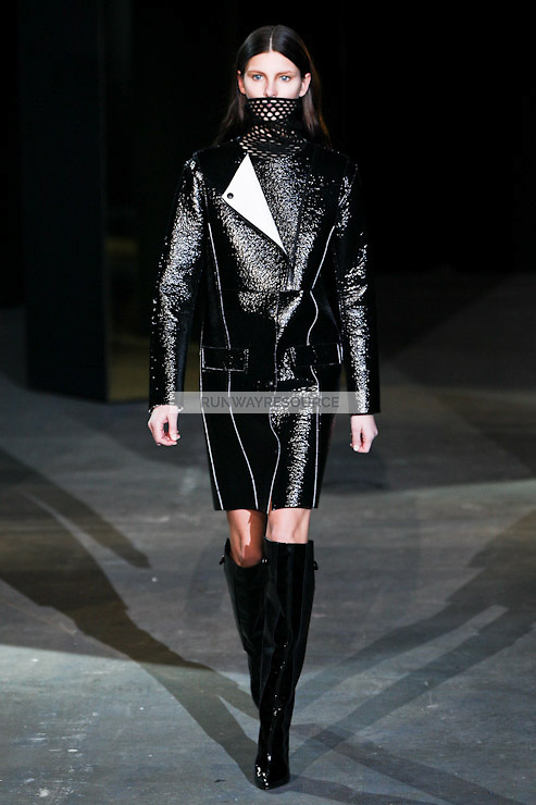 Ava Smith walks down runway for F2012 Alexander Wang's collection in Mercedes Benz fashion week in New York on Feb 12, 2012 NYC