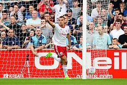 Kayden Jackson of Accrington Stanley celebrates scoring a goal - Mandatory by-line: Dougie Allward/JMP - 21/04/2018 - FOOTBALL - Adam's Park - High Wycombe, England - Wycombe Wanderers v Accrington Stanley - Sky Bet League Two