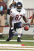 CANTON - AUGUST 8:  Mushin Muhammad #87, a 2005 free agent acquisition for the Chicago Bears, scored a touchdown against the Miami Dolphins at Pro Football Hall of Fame Field at Fawcett Stadium in Canton, Ohio on August 8, 2005. The Bears defeated the Dolphins 27-24. ©Paul Anthony Spinelli *** Local Caption *** Mushin Muhammad