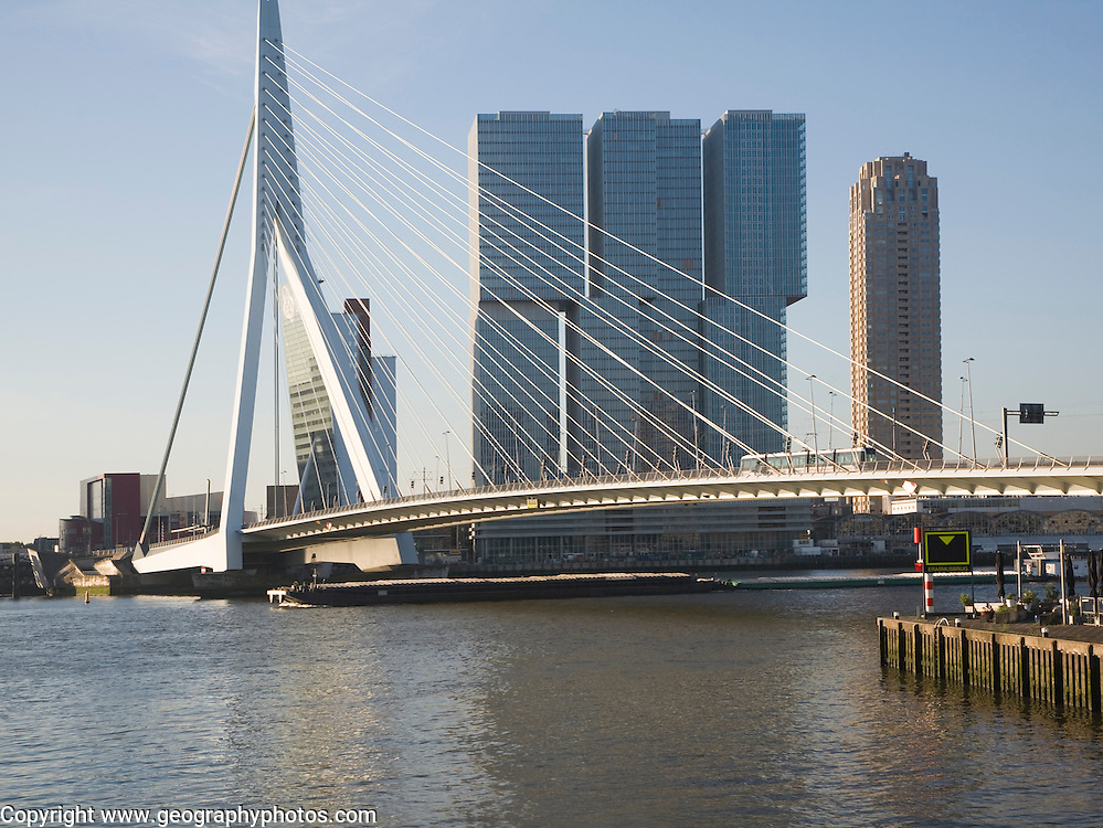 De Rotterdam building designed by architect Rem Koolhaas as a vertical city nears completion in August 2013 at Wilhelminapier, Rotterdam, Netherlands