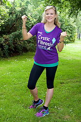 Stars Line Out for Cystic Fibrosis Ireland, as Charity Fields one of Biggest Charity Contingents in VHI Women's Mini Marathon.<br /> <br /> <br /> <br /> Pictured warming up for the  VHI Women's Mini Marathon RTÉ's favourite weather presenter Nuala Carey.