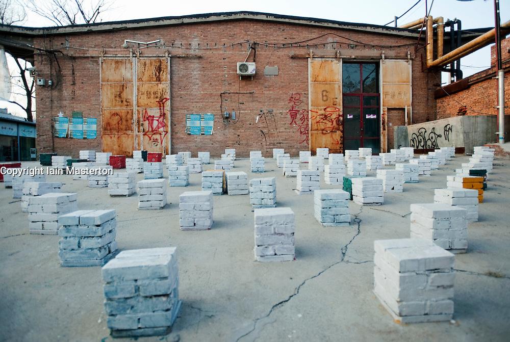 Modern art sculpture at 798 Art District in Beijing China