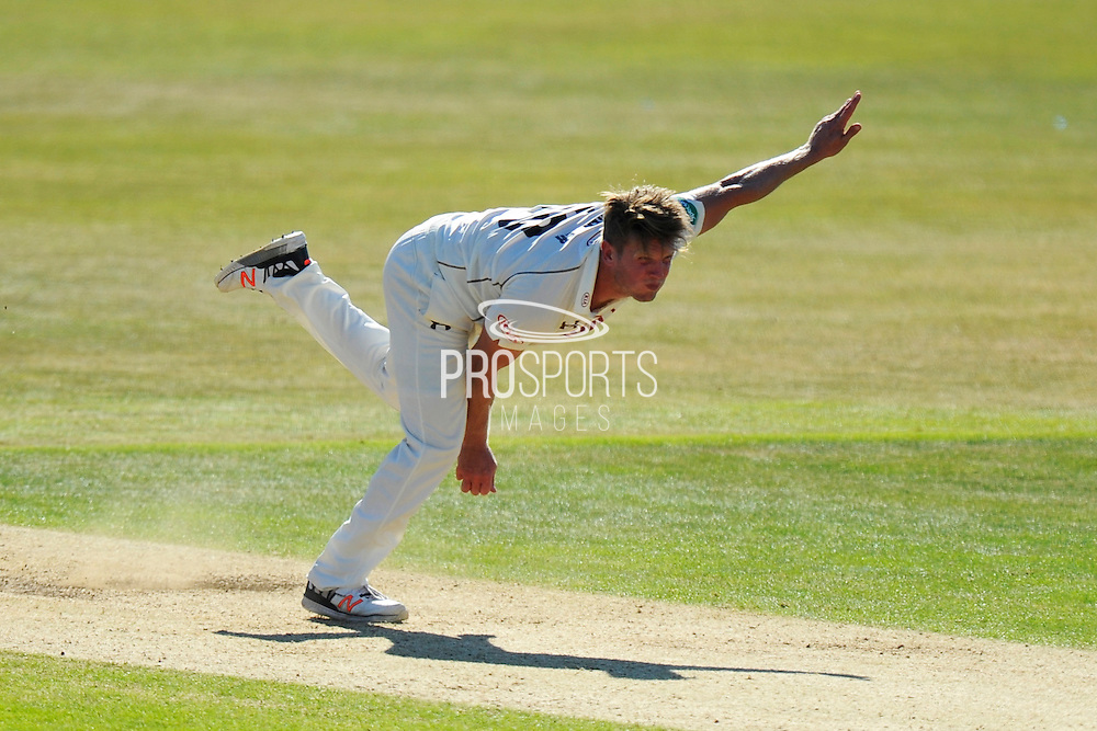 Surrey's Stuart Meaker during the Specsavers County Champ Div 1 match between Hampshire County Cricket Club and Surrey County Cricket Club at the Ageas Bowl, Southampton, United Kingdom on 18 July 2016. Photo by Graham Hunt.