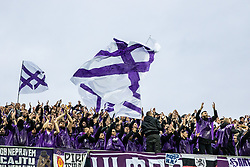 Fans of NK Maribor during football game between NK Olimpija Ljubljana and NK Maribor in Final Round (18/19)  of Pokal Slovenije 2018/19, on 30th of May, 2014 in Arena Z'dezele, Ljubljana, Slovenia. Photo by Matic Ritonja / Sportida