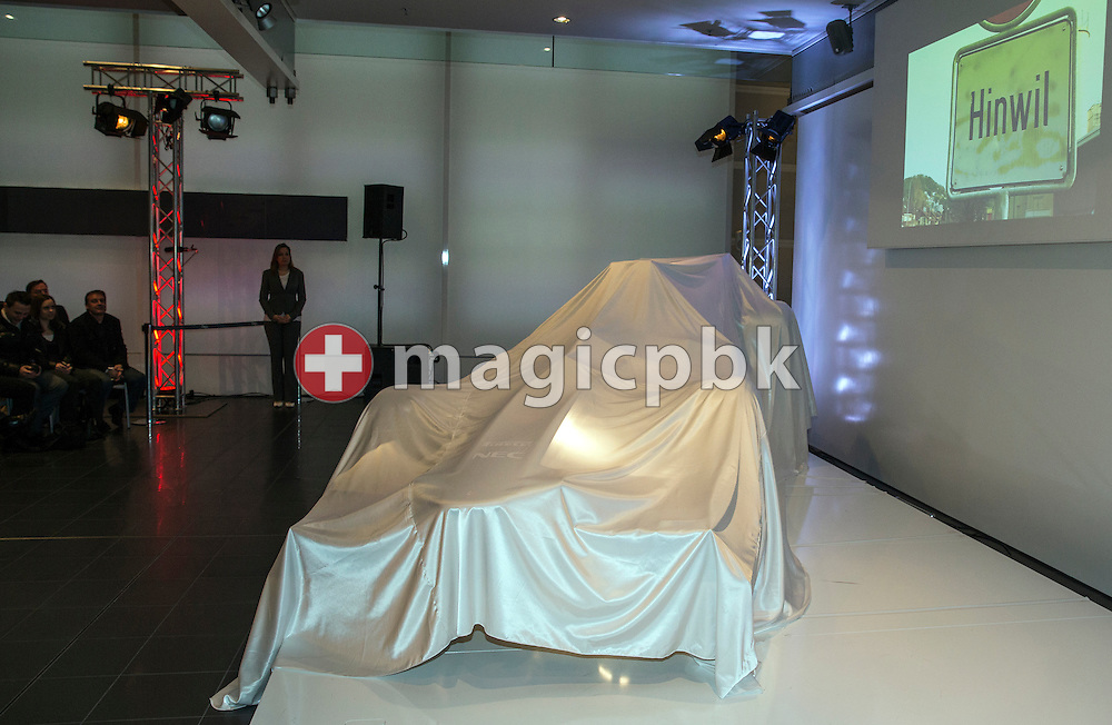 The Sauber C32-Ferrari, the Sauber F1 Team Formula One car for the 2013 season, during the launch in Hinwil, Switzerland, Saturday, Feb. 2, 2013. (Photo by Patrick B. Kraemer / MAGICPBK)