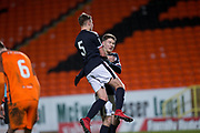 Cedwyn Scott of Dundee is congratulated after scoring by Jordan Piggott - Dundee United v Dundee, SPFL Under 20 Development League at Tannadice Park, Dundee<br /> <br />  - &copy; David Young - www.davidyoungphoto.co.uk - email: davidyoungphoto@gmail.com