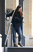 Nov. 25, 2015 - New York City, NY, USA - <br /> <br /> Actress Keira Knightley leaves her Tribeca apartment in New York City  <br /> ©Exclusivepix Media