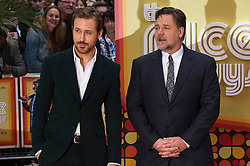 © Licensed to London News Pictures. 19/05/2016. RYAN GOSLING and RUSSELL CROWE attend The Nice Guys UK film premiere. London, UK. Photo credit: Ray Tang/LNP