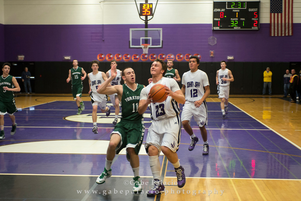 John Jay Varsity Basketball game vs. Yorktown at John Jay High School on January 10, 2015. (photo by Gabe Palacio)