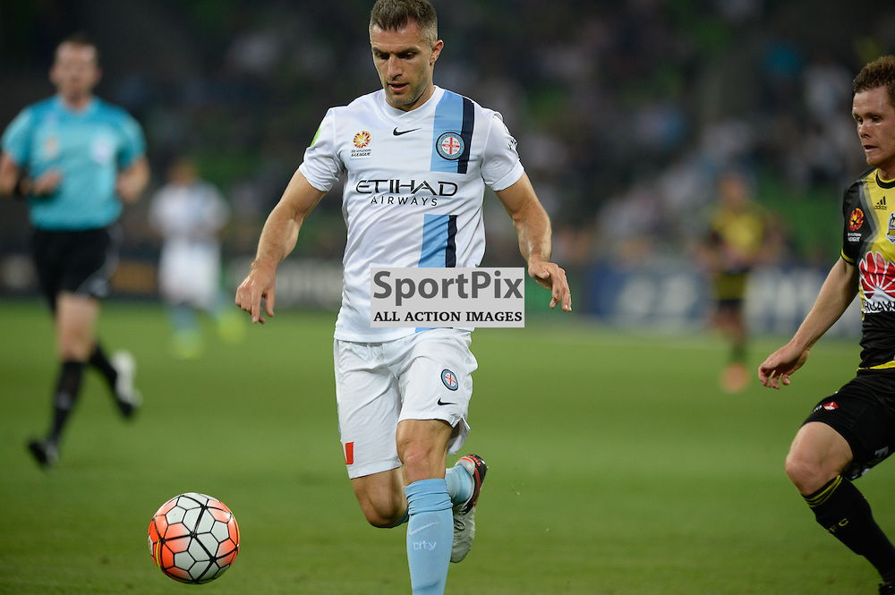 Aaron Hughes of Melbourne City, Hyundai A-League, January 25th 2016, RD16 match between Melbourne City FC v Wellington Phoenix FC in a 3:01 win to City  at Aami Park,  Melbourne, Australia. © Mark Avellino | SportPix.org.uk