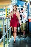 27/05/2016 . Manchester , UK . <br /> <br /> Exclusive <br /> Geordie Shore's CHARLOTTE CROSBY at Turtle Bay bar in the Northern Quarter of Manchester, for a shoot with Inthestyle<br /> ©Exclusivepix Media