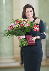 January 11, 2019 - Warsaw, Poland - Tennis player Agnieszka Radwanska poses after the award ceremony of the Order of Polonia Restituta from Polish President Andrzej Duda (not In Picture) in Warsaw, Poland, on 11 January 2019. (Credit Image: © Foto Olimpik/NurPhoto via ZUMA Press)