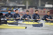 Putney, GREAT BRITAIN,   left, Ben ROSENBERGER, 3. Mike VALLI. 4. Alex HEARNE, 6 Tom SOLESBURY, 7 George BRIDGEWATER,  during the 2008 Varsity/Oxford University [OUBC] Trial Eights, raced over the championship course. Putney to Mortlake, on the River Thames. Thurs. 11.08.2008 [Mandatory Credit, Peter Spurrier/Intersport-images] Varsity Boat Race, Rowing Course: River Thames, Championship course, Putney to Mortlake 4.25 Miles,