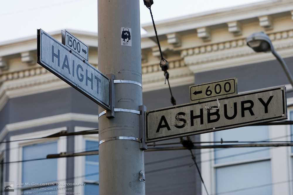The famous Haight Ashbury street signs - San Francisco, California