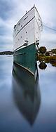 A Big Boat In Harbor And At Anchor Lake Michigan