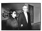 Yoko Ono and Sam Havotoy at the Ross Bleckner opening in Guggenhein© Copyright Photograph by Dafydd Jones 66 Stockwell Park Rd. London SW9 0DA Tel 020 7733 0108 www.dafjones.com