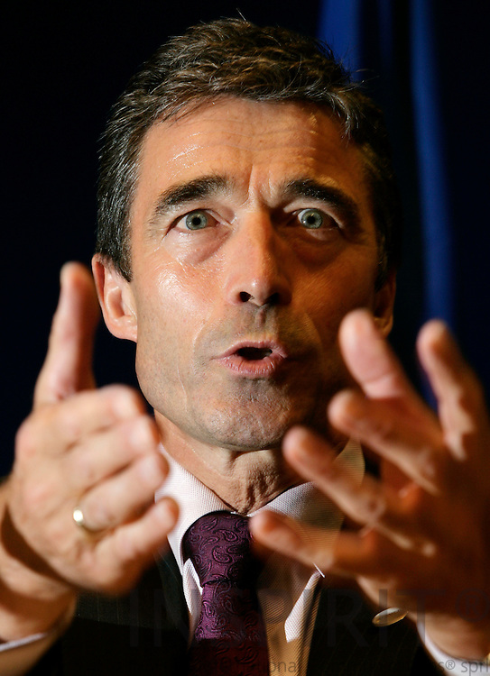 BRUSSELS - BELGIUM - 22 JUNE 2007 -- EU-SUMMIT -- National Press Conference by the Danish Prime Minister Anders Fogh RASMUSSEN. -- NO SALES IN DENMARK-- Photo: Erik Luntang