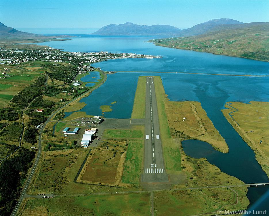 BIAR Akureyrarflugv&ouml;llur s&eacute;&eth; til nor&eth;urs   /   <br /> BIAR Akureyri airport viewing northwest.