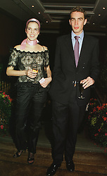 MISS ALEXANDRA AITKEN daughter of Jonathan Aitken and MR FRITZ von WESTENHOLZ, at a party in London on 22nd February 1999.MON 113