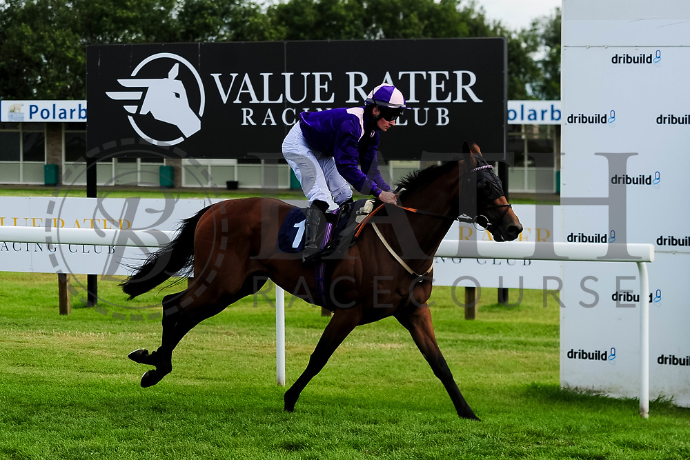 "Victoriano ridden by Adam McNamara and trained by Archie Watson in the Play ""Four From The Top"" At Valuerater.Co.Uk Handicap (Bath Summer Stayers' Series Qualifier) (Class 6) race. - Ryan Hiscott/JMP - 07/08/2019 - PR - Bath Racecourse - Bath, England - Race Meeting at Bath Racecourse"