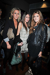 Left to right, Lucie Hirst, Clementine Chant Sempill and Lara Pilkington at the launch of the new Chinawhite at 4 Winsley Street, London on 21st October 2009.