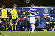 Queens Park Rangers forward Conor Washington (9) witgh head in hands during the EFL Sky Bet Championship match between Queens Park Rangers and Burton Albion at the Loftus Road Stadium, London, England on 28 January 2017. Photo by Matthew Redman.