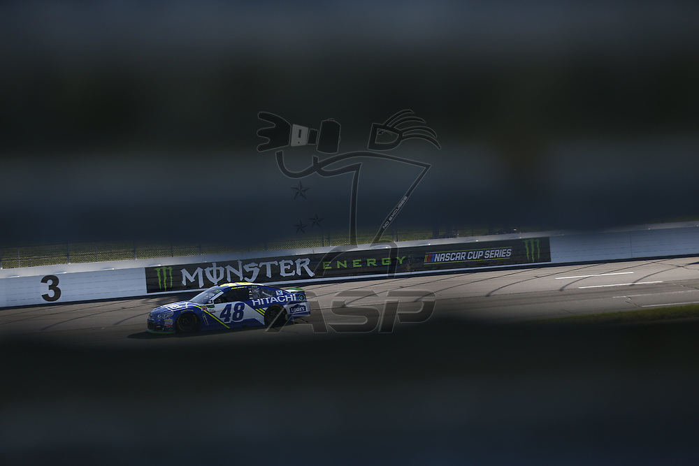 September 23, 2017 - Loudon, New Hampshire, USA: Jimmie Johnson (48) takes to the track to practice for the ISM Connect 300 at New Hampshire Motor Speedway in Loudon, New Hampshire.