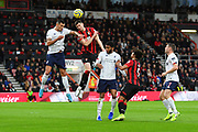 Dejan Lovren (6) of Liverpool battles for possession with Chris Mepham (33) of AFC Bournemouth during the Premier League match between Bournemouth and Liverpool at the Vitality Stadium, Bournemouth, England on 7 December 2019.
