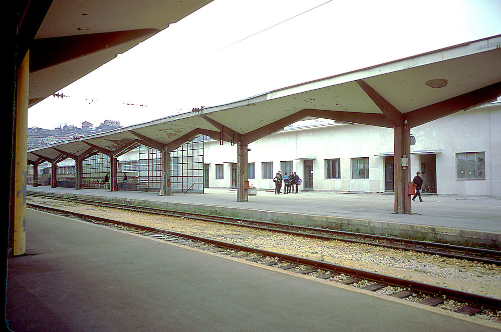 Sarajevo Train Station in use after the War