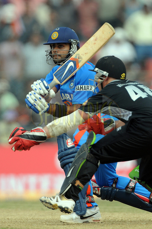 Virat Kohli of India bats during the 1st ODI (One Day International) held at the Nehru Stadium in Guwahati, Assam, India on the 28 th November 2010.Photo by Pal Pillai/BCCI/SPORTZPICS