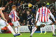 Derby County defender Scott Malone (46) during the EFL Sky Bet Championship match between Stoke City and Derby County at the Bet365 Stadium, Stoke-on-Trent, England on 28 November 2018.