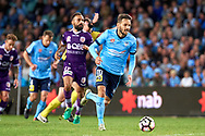 April 29, 2017: Sydney FC midfielder Milos NINKOVIC (10) takes the ball down field at Semi Final one of the 2016/17 Hyundai A-League match, between Sydney FC and Perth Glory, played at Allianz Stadium in Sydney.