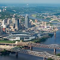 Aerial Cincinnati Skylines