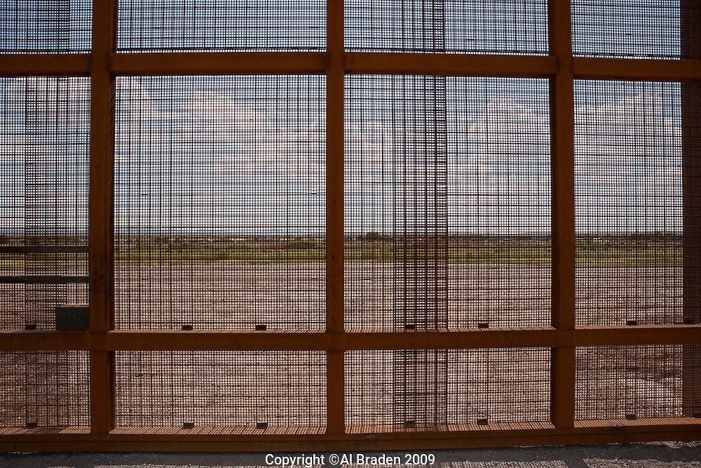Border Fence on Rio Grande near Fabens, TX