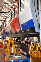 SSL, Sub Surface Line Project, production of underground trains. Bombardier, Derby .?.© Martin Jenkinson, tel 0114 258 6808 mobile 07831 189363 email martin@pressphotos.co.uk. Copyright Designs & Patents Act 1988, moral rights asserted credit required. No part of this photo to be stored, reproduced, manipulated or transmitted to third parties by any means without prior written permission