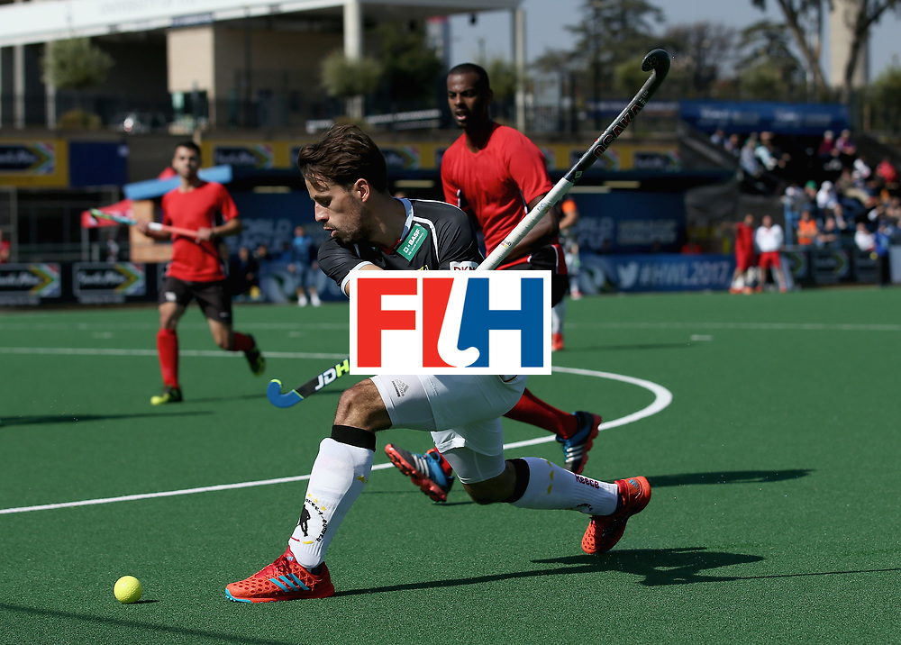 JOHANNESBURG, SOUTH AFRICA - JULY 11: Benedikt Furk of Germany in action  during day 2 of the FIH Hockey World League Semi Finals Pool B match between Germany and Egypt at Wits University on July 11, 2017 in Johannesburg, South Africa. (Photo by Jan Kruger/Getty Images for FIH)