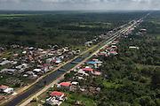 Irrigation canal<br /> West Demerara<br /> Sugar Cane production<br /> Coastal area<br /> GUYANA<br /> South America